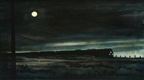 "Night Train 24x58"" SOLD"