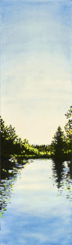 "Morning Light, Trent Canal 40x12"" $1800."