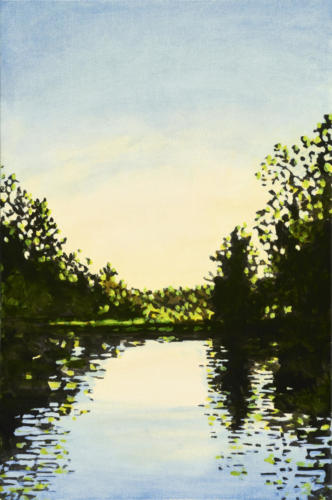 """Morning, Trent Canal 24x16"""" SOLD"""