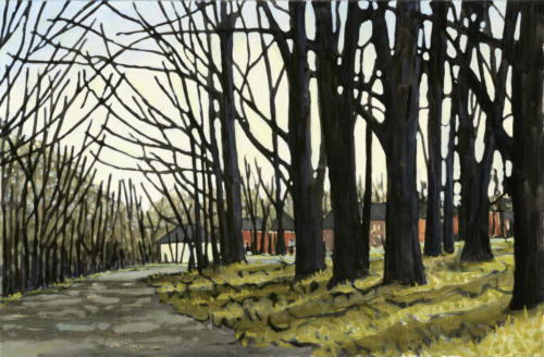"Early Spring, Nichols Oval 17x26"" $1500"