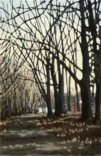 "Early Spring, Nichols Oval 26x17"" $1500."