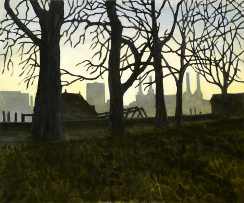 "January Sunset Over Battersea 20x24"" $1500."