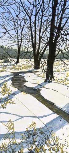 "Winter Swamp Study  48x24"" SOLD"