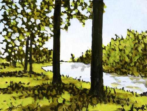 """Morning Light, Trent Canal 2 6x9"""" SOLD"""