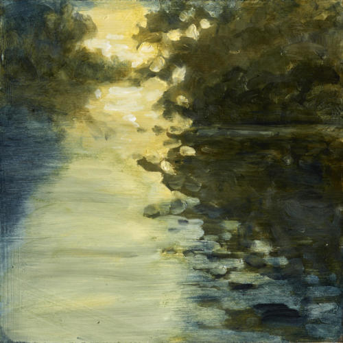 "Morning Light Otonabee River 10x10"" SOLD"