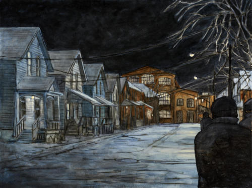"Night Shift, Lafayette Ave. Peterborough 30x40"" $2500"