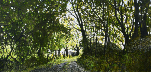 "Shaded Walk, Yorkshire 24x48"" $2500"
