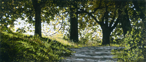 "Shaded Walk 24x48"" SOLD"