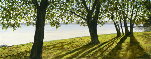 "Summer Evening, Rogers Cove 14x30"" SOLD"