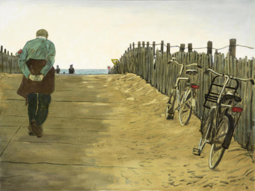 "Towards The Beach, Kijkduin NL 30x40"" SOLD"
