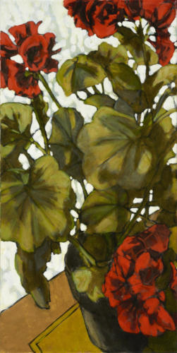 "Winter Geranium Study 2 24x12""  SOLD"