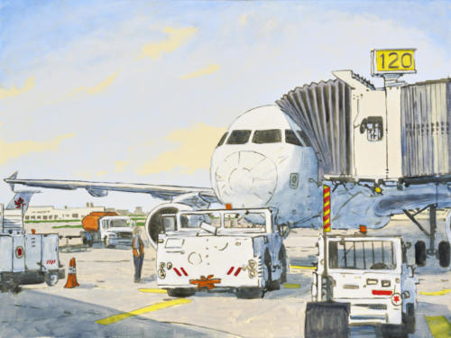 "YYZ Hot Day On The Tarmac 30x40"" SOLD"